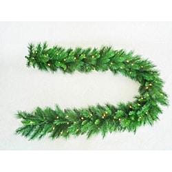 Olympia Spruce Pre-Lit Christmas Garland (9 Feet)