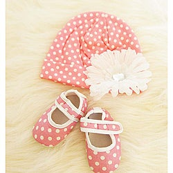 Pink and White Polka Dot Baby Gift Set
