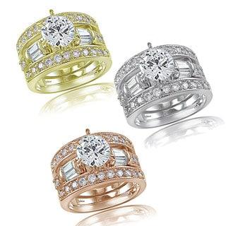Icz Stonez 3ct TGW Cubic Zirconia Bridal Engagement Ring Set