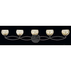 Triarch International Retro 5-light Bronze Bath Light
