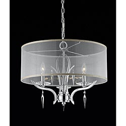 Triarch International Transitional 3-light Chrome Finish Pendant
