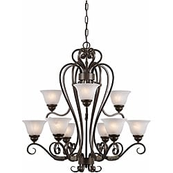 Triarch International 'Monte Carlo' 9-light Harvest Bronze Chandelier