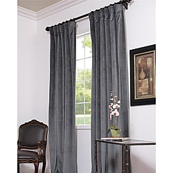 Natural Grey 108-inch Velvet Blackout Curtain Panel