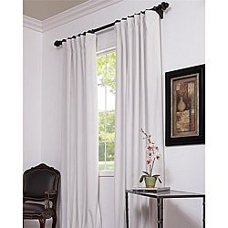 Signature Off White Velvet Blackout 108-Inch Curtain Panel