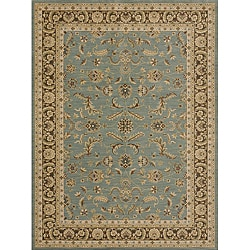 Dorchester Blue/ Brown Powerloomed Rug (9'8 x 12'8)