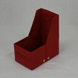 Red Fabric File Box