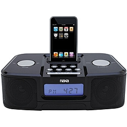 Naxa NI-3103 Black iPod Docking Station/ Alarm Clock