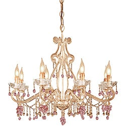 Crystorama Paris Flea Market Champagne 8-Light Chandelier