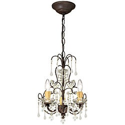 Crystorama Ella Dark Rust 3-light Chandelier