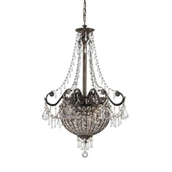Crystorama Vanderbilt English Bronze 6-light Pendant