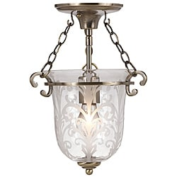 Traditional Crystorama Camden Antique Brass One-Light Pendant