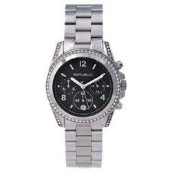 Republic Women's Stainless Steel Glitz Chronograph Watch
