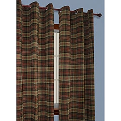 Jenny George Designs Plaid Chenille 96 inch Window Panels (Set of 2)