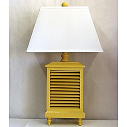 Light Yellow Wood Shutter Lamp