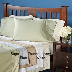 Grand Luxe Egyptian Cotton Sateen 300 Thread Count Swirl California King-size Deep Pocket Sheet Set