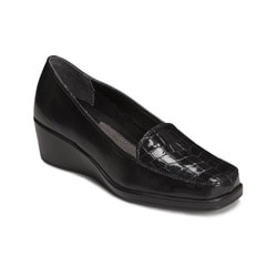 A2 by Aerosoles Women's Tempting Black Combo Wedge Dress Shoes