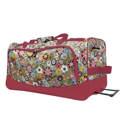 Olympia &#39;Tulip&#39; 26-inch Fashion Rolling Upright Duffel Bag