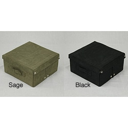 Heavy-Duty Microsuede Storage Box
