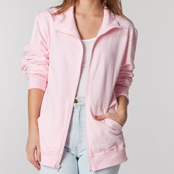 American Apparel Unisex Powder Pink California Fleece Zip Jogger Jacket