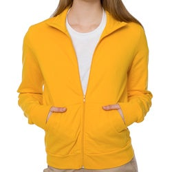 American Apparel Unisex Gold California Fleece Zip Jogger Jacket