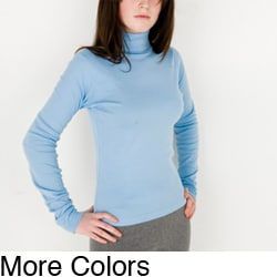 American Apparel Women's Long-sleeve Turtleneck Top (Large)