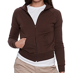 American Apparel Women's Brown California Fleece Hoodie