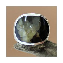 Sterling Silver Men's 'Morocco Green' Ring (Indonesia)