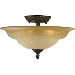 Venetian Bronze Oxford 5-light Semi-flush Mount Ceiling Light