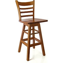 Ladder Swivel Cherry Barstool