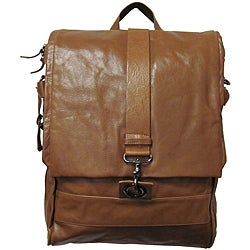 Amerileather Vintage Hunter Leather Messenger Bag/ Backpack