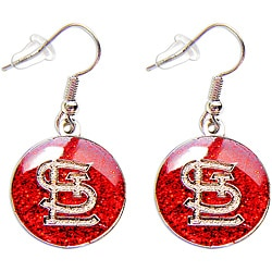 Aminco International St. Louis Cardinals Glitter Charm Dangle Earrings Set