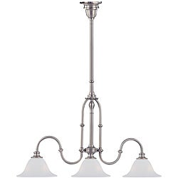 Cortland 3-light Satin Nickel Island Light