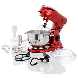 Wolfgang Puck Commercially Rated 700-Watt Stand Mixer with Food Grinder Attachment (Refurbished)