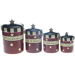 Certified International 'Family Table' 4-piece Canister Set