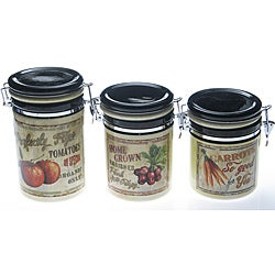 Certified International 'Farm Fresh' Canister 3-piece Set