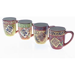 Certified International 'Olio' Mugs (Set of 4)