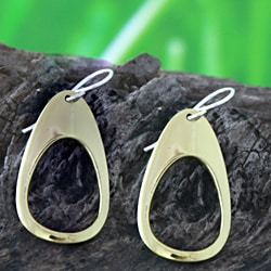 Tumbaga Teardrop Dangle Earrings (Mexico)