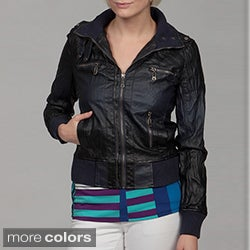 Brave Soul Women's 'Dip Dye' Ribbed Jacket
