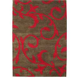 Handmade Sabrina Brown New Zealand Blend Wool Rug (8' x 10')