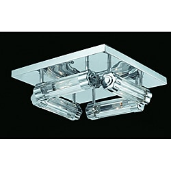 Triarch International Glacier 4-Light Chrome Flush Mount
