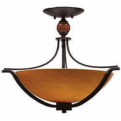 Triarch International Halogen VI 3-light Oil Rubbed Bronze Flush Mount