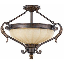 Triarch International Venus 3-light English Bronze Semi-Flush Mount
