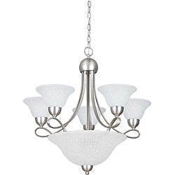 Eight Light Satin Nickel Pomona Chandelier