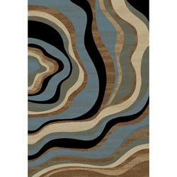 Nirvana Waves Tone & Tone Area Rug (7'10 x 9'10)
