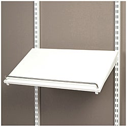 Organized Living freedomRail Pre-Drilled White Shoe Shelf (24 x 14)