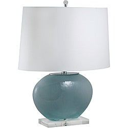 Gray Oval Glass Lamp (Pack of 2)