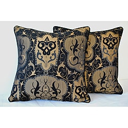 Sherry Kline 18-inch Emporium Black and Gold Pillow (Set of 2)