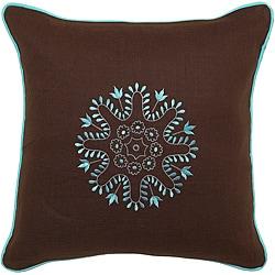 Gladstone Chocolate/ Turquoise Decorative Pillow