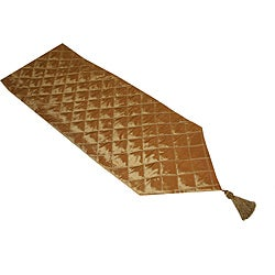 Thro 'Criss-Cross' Quilted Tassel Runner (90 Inch)
