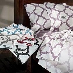 Lyon Cotton Rich Percale 300 Thread Count King/ California King Sheet Set